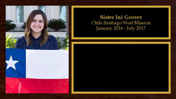 January 2016 to July 2017<br/>Sister Ini Grover