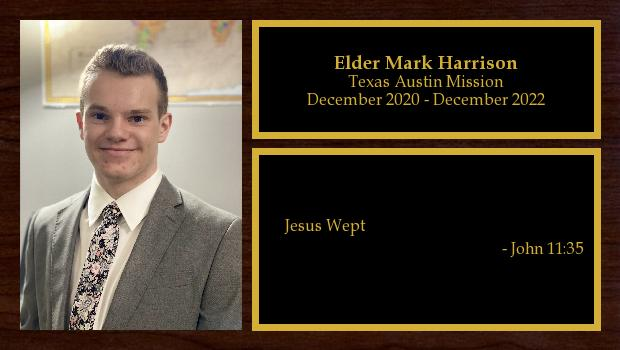 December 2020 to December 2022<br/>Elder Mark Harrison