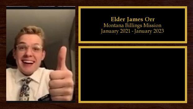 January 2021 to January 2023<br/>Elder James Orr