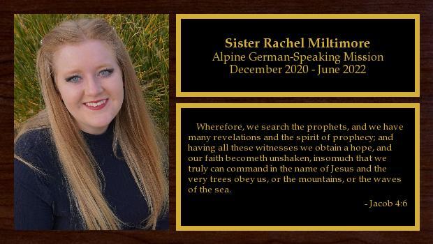 <br/>Sister Rachel Miltimore