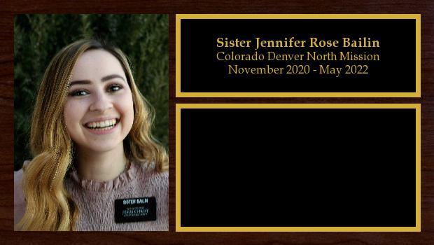 November 2020 to May 2022<br/>Sister Jennifer Rose Bailin
