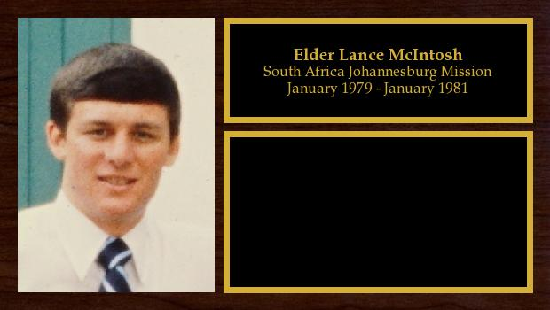 January 1979 to January 1981<br/>Elder Lance McIntosh