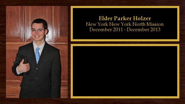 December 2011 to December 2013<br/>Elder Parker Holzer