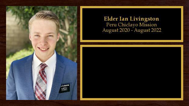 August 2020 to August 2022<br/>Elder Ian Livingston