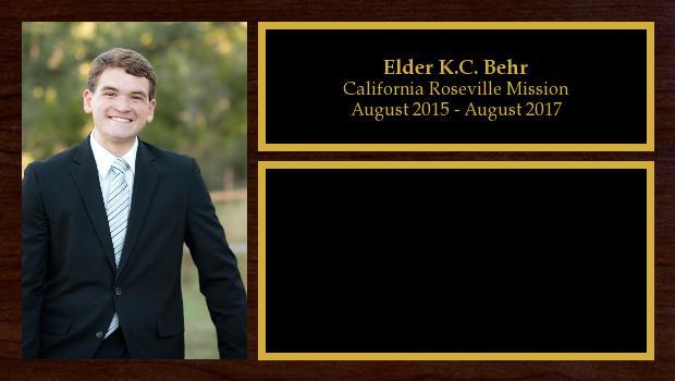 August 2015 to August 2017<br/>Elder K.C. Behr