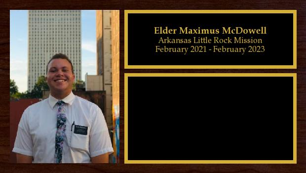 February 2021 to February 2023<br/>Elder Maximus McDowell