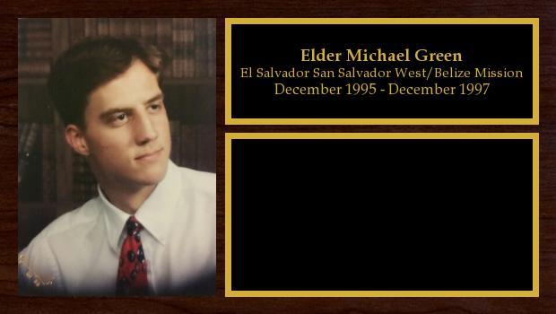 December 1995 to December 1997<br/>Elder Michael Green