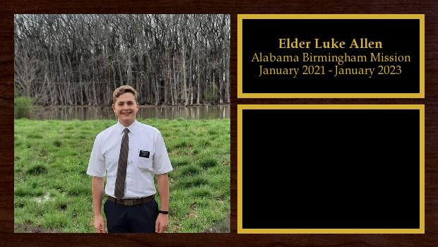 January 2021 to January 2023<br/>Elder Luke Allen