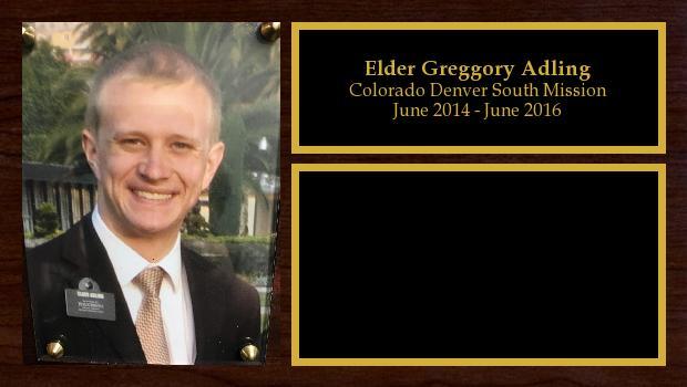 June 2014 to June 2016<br/>Elder Greggory Adling