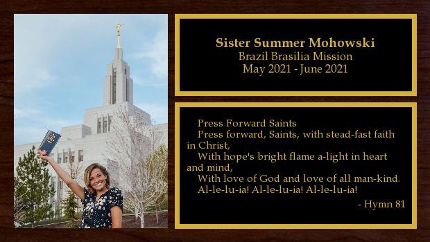 May 2021 to November 2022<br/>Sister Summer Mohowski