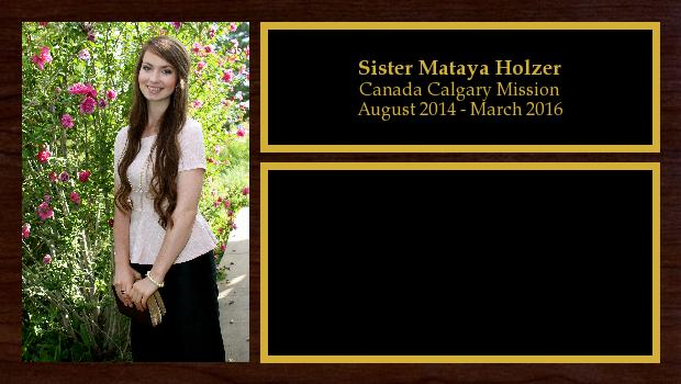 August 2014 to March 2016<br/>Sister Mataya Holzer