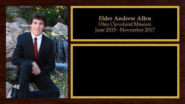 June 2015 to November 2017<br/>Elder Andrew Allen