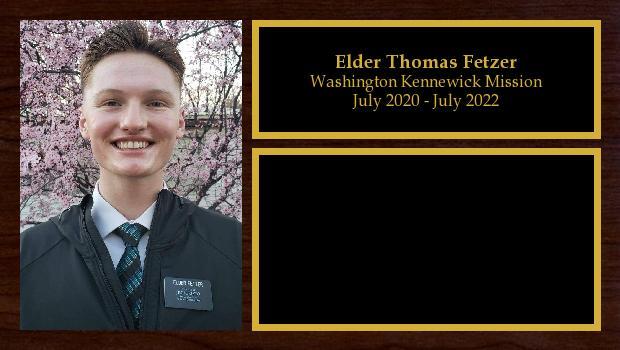July 2020 to July 2022<br/>Elder Thomas Fetzer