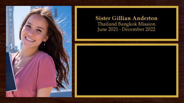 June 2021 to December 2022<br/>Sister Gillian Anderton