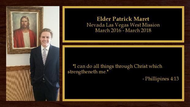 March 2016 to March 2018<br/>Elder Patrick Maret