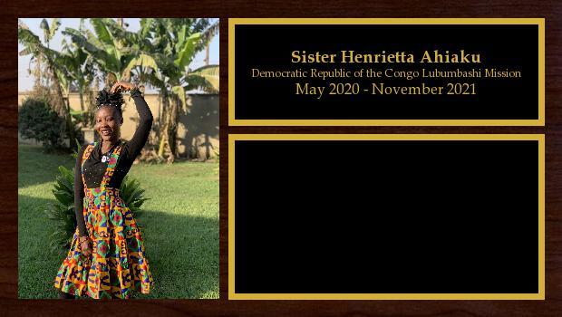 May 2020 to November 2021<br/>Sister Henrietta Ahiaku