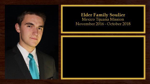 November 2016 to October 2018<br/>Elder Family Soulier