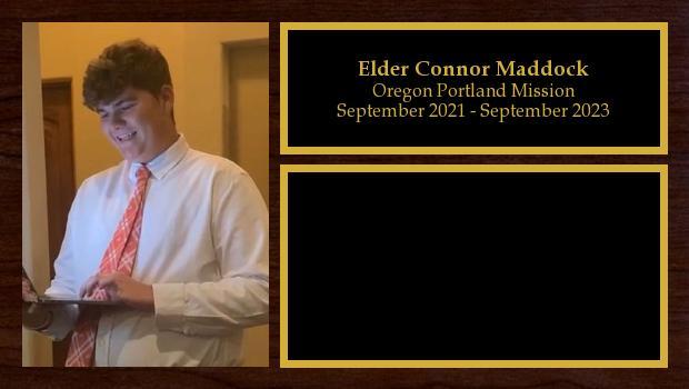 September 2021 to September 2023<br/>Elder Connor Maddock