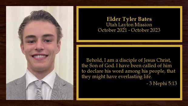 October 2021 to October 2023<br/>Elder Tyler Bates