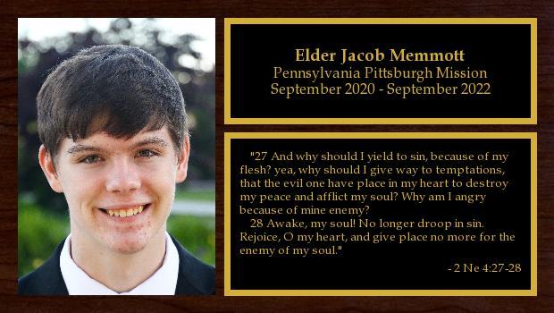 September 2020 to September 2022<br/>Elder Jacob Memmott