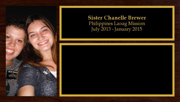 July 2013 to January 2015<br/>Sister Chanelle Brewer