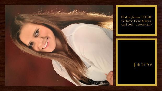 April 2016 to October 2017<br/>Sister Jenna ODell