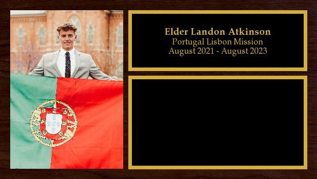 August 2021 to August 2023<br/>Elder Landon Atkinson