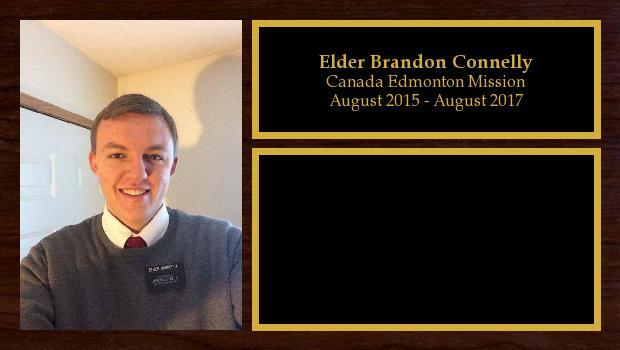 August 2015 to August 2017<br/>Elder Brandon Connelly