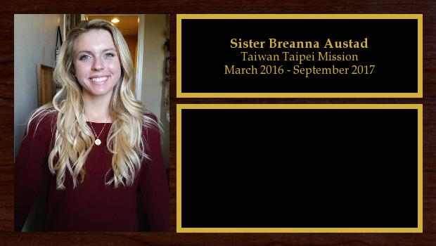 March 2016 to September 2017<br/>Sister Breanna Austad