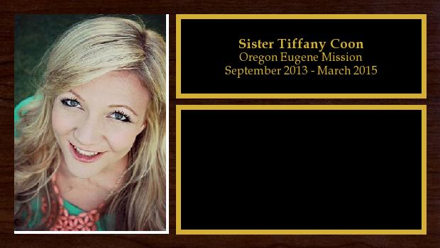 September 2013 to March 2015<br/>Sister Tiffany Coon