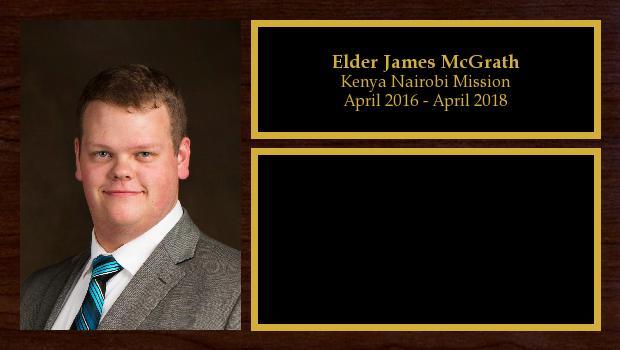 April 2016 to April 2018<br/>Elder James McGrath