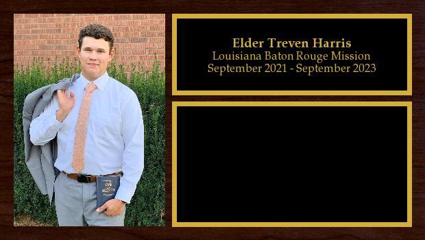 September 2021 to September 2023<br/>Elder Treven Harris