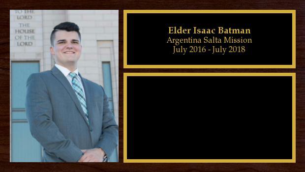 July 2016 to July 2018<br/>Elder Isaac Batman