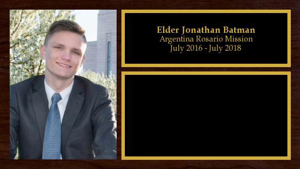 July 2016 to July 2018<br/>Elder Jonathan Batman