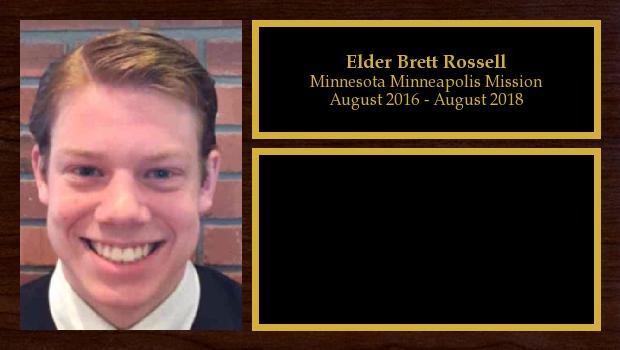 August 2016 to August 2018<br/>Elder Brett Rossell