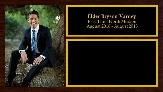 August 2016 to August 2018<br/>Elder Bryson Varney