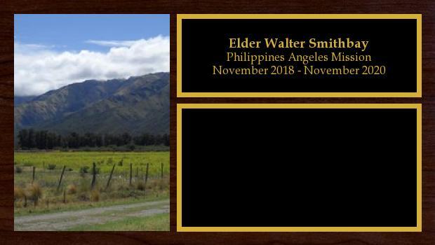 November 2018 to November 2020<br/>Elder Walter Smithbay