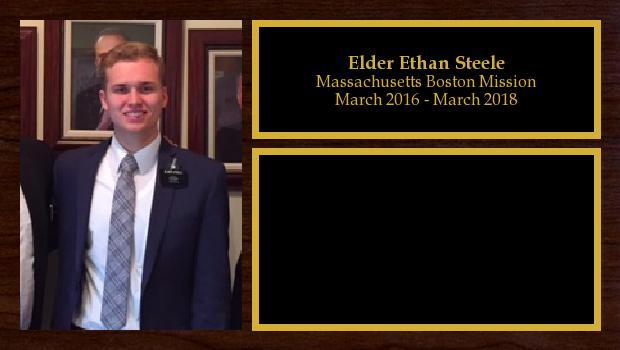 March 2016 to March 2018<br/>Elder Ethan Steele