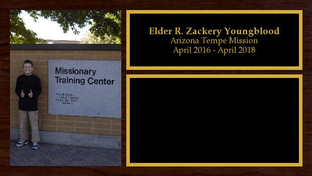 April 2016 to April 2018<br/>Elder R. Zackery Youngblood