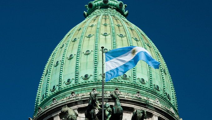 Congresso Nacional building, in Buenos Aires, Argentina
