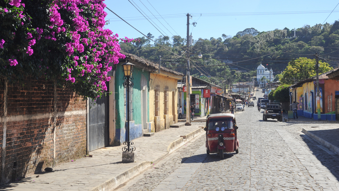 The colonial village of Conception de Ataco on El Salvador