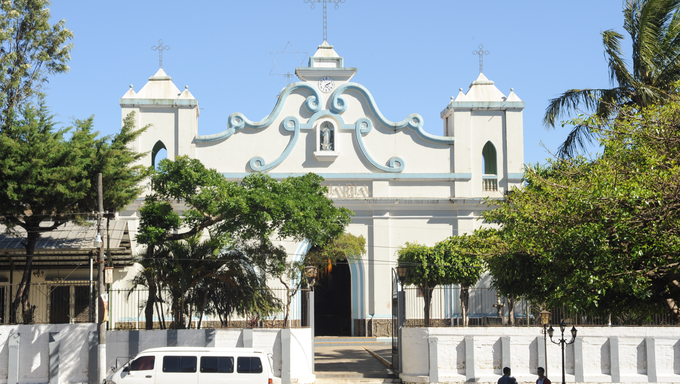 The colonial church of Conception de Ataco on El Salvador