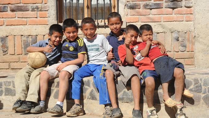 Group of indian boys at Ataco on El Salvador