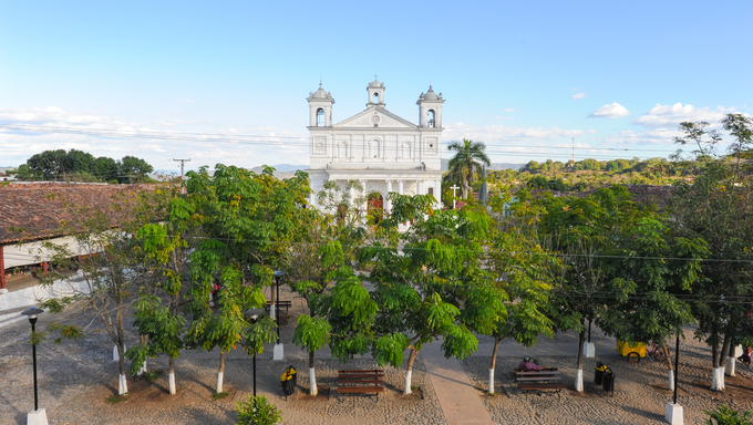 The church of Suchitoto on El Salvador
