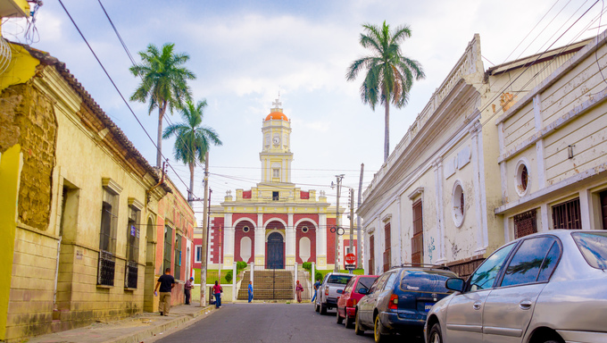 streets of Santa Ana in El Salvador