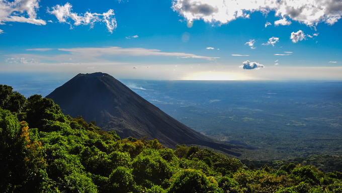 Izalco Volcano from Cerro Verde National Park, El Salvador.