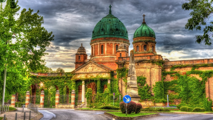 Entrance to Mirogoj Cemetery - Zagreb, Croatia