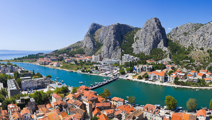 Town Omis in Croatia.