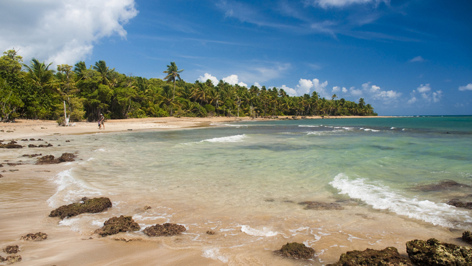 Atlantic Coast in Puerto Rico.