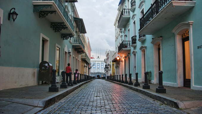 Detail of San Juan, Capital of Puerto Rico.